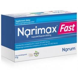 Narimax Fast - metabiotyk 200 mg, 30 kapsułek